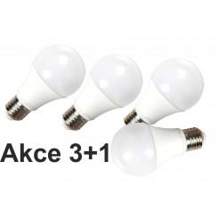 Akce: LED žárovka E27 10W 806lm denní  3+1
