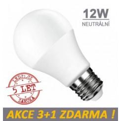 LED žárovka E27 12W 18xSMD2835 1080lm CCD  NEUTRÁLNÍ, 3+1 Zdarma