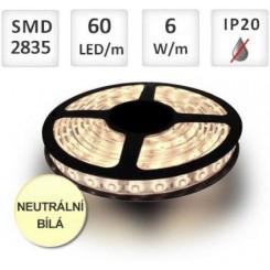 LED pásek 60ks 2835 6W/m NEUTRÁLNÍ, cena za 1m