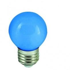 LED žárovka 1W 4xSMD2835 E27 20lm MODRÁ