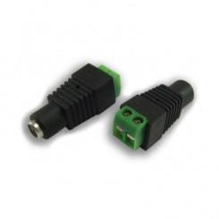 Konektor napájecí DC 2,1/5,5mm se svorkovnicí, samice