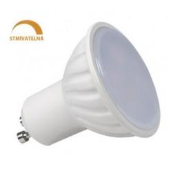 LED žárovka 8W 14xSMD2835 GU10 750lm Teplá STMÍVATELNÁ