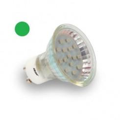 LED žárovka 1W 8xSMD2835 GU10 80lm ZELENÁ
