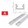 Hliníkový profil LUMINES A 2m pro LED pásky, bílý lakovaný