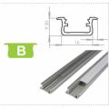 Hliníkový profil LUMINES B zápustný 2m pro LED pásky, stříbrný