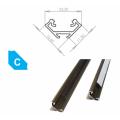 Hliníkový profil LUMINES C 2m pro LED pásky, eloxovaný inox