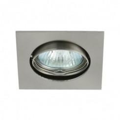 Podhledové bodové svítidlo ONYX chrom matný + patice, LUX01279