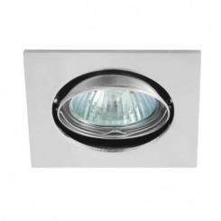 Podhledové bodové svítidlo ONYX chrom + patice,LUX01278