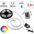 LED pásek 2,5m RGB 5050, 30 LED/m, 36W, IP65, sada##Akční sleva!
