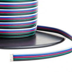 Kabel pro LED pásek RGB - W plochá pětilinka 5x0,5mm