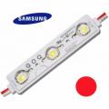 LED Modul 3xSMD 5630 SAMSUNG 1,2W 120lm 12V IP68 ČERVENÁ