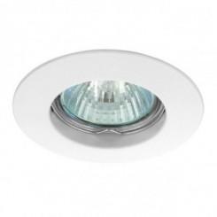 Podhledové bodové svítidlo GAMA ALU bílá + patice, LUX01230