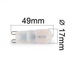 Akce: Stmívatelná LED žárovka G9 3W 270lm studená 3+1