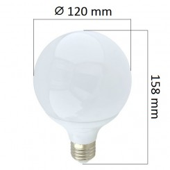 LED  žárovka E27 18W 1440lm G120, denní, ekvivalent 108W