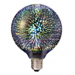 Dekorační LED žárovka E27 3W 40lm G125 s 3D efektem