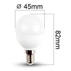 Akce: LED žárovka E14 6W 470lm G45 studená 3+1
