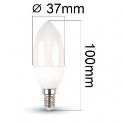 LED žárovka E14 3W 250lm denní, ekvivalent 25W