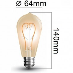 Retro LED žárovka E27 5W 300lm teplá, filament, ekvivalen 30W