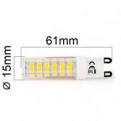 LED žárovka G9 6,8W 620lm studená , ekvivalent 52W