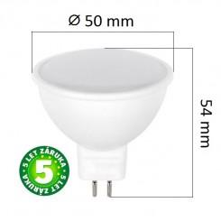 Akce: LED žárovka MR16 7W 500lm 12V teplá, 3+1