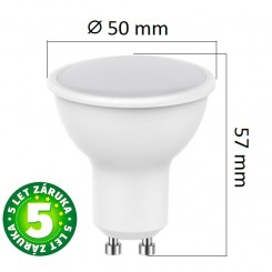 Akce: LED žárovka  GU10 5W 320lm, studená 3+1