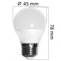 LED  žárovka E27 6W  480lm G45, denní, ekvivalent 40W