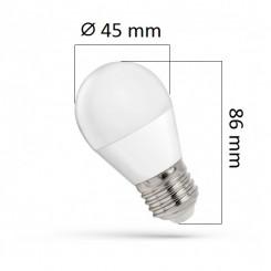 Akce: LED žárovka E27 7W 620lm G45 teplá 3+1