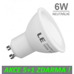 LED žárovka 6W 10xSMD2835 GU10 475lm NEUTRÁLNÍ