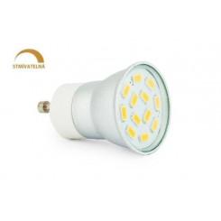 LED žárovka 3W 12xSMD5630 GU11 270lm CCD 230V STMÍVATELNÁ NEUTRÁLNÍ